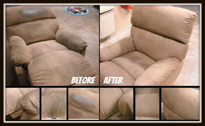 brfore and after comparisation of upholstery cleaning